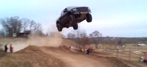 This Is One Of The Coolest Truck Jumps Ever