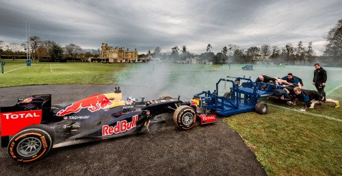 Rugby Team Goes Toe-To-Toe In A Scrum VS An F1 Supercar…