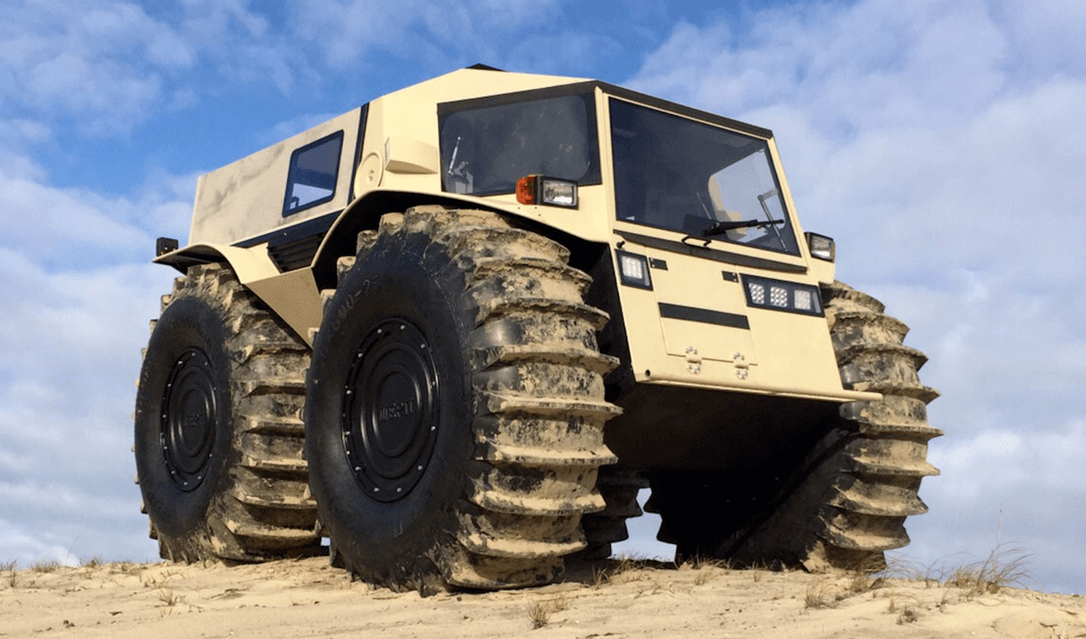 Russia's $65,000 All-Terrain Monster Truck – Say Hello To The Sherp!